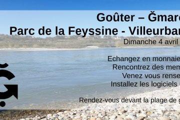 Annonce Gmarché dimanche 4 à 16h au parc de la Feyssine